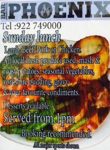 Bar Phoenix Sunday Lunch